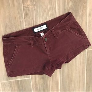 Abercrombie Maroon Low Rise Shorts